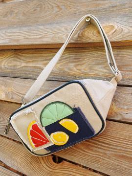 Фото товара: сумка на пояс 200265 світло-сірий. Вид 1.