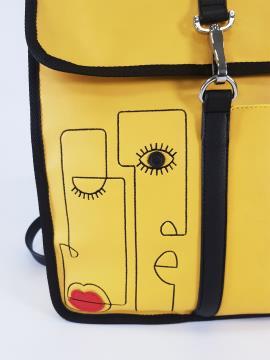 Фото товара: рюкзак 210171 желтый. Вид 2.