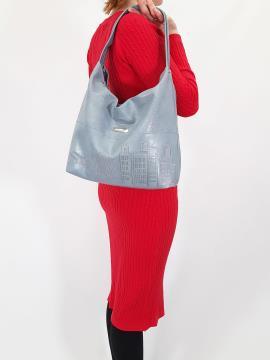 Фото товара: сумка 210133 сіро-блакитний. Вид 1.