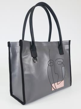 Фото товара: сумка 210163 сірий. Вид 1.