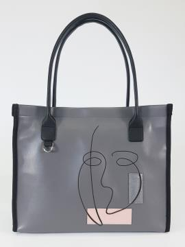 Фото товара: сумка 210163 сірий. Вид 2.