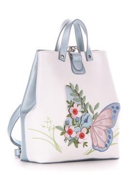 Фото товара: сумка-рюкзак 210122 білий-блакитний. Вид 1.