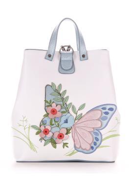 Фото товара: сумка-рюкзак 210122 білий-блакитний. Вид 2.