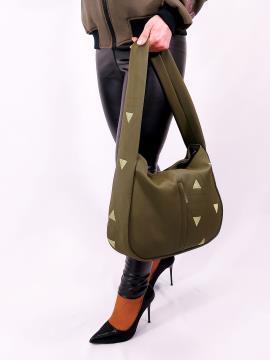 Фото товара: сумка хобо 210064 хакі. Вид 1.