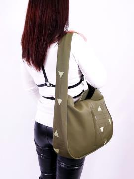 Фото товара: сумка хобо 210064 хакі. Вид 2.
