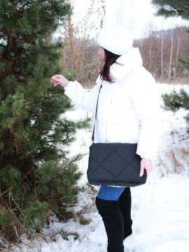 Фото товара: сумка через плечо 210021 черный. Фото - 2.