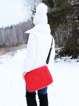 Фото товара: сумка через плечо 210022 красный. Фото - 2.