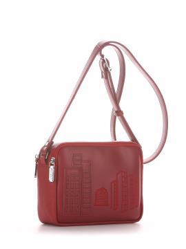 Фото товара: сумка через плече 210152 вишня. Вид 1.