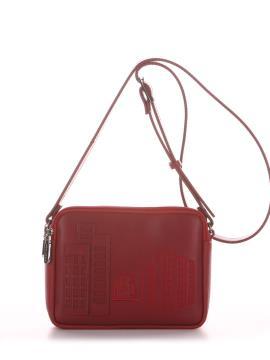 Фото товара: сумка через плече 210152 вишня. Вид 2.