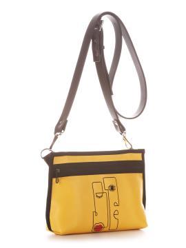 Фото товара: сумка через плече 210181 жовтий. Вид 1.