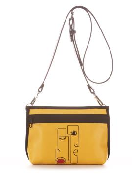 Фото товара: сумка через плече 210181 жовтий. Вид 2.
