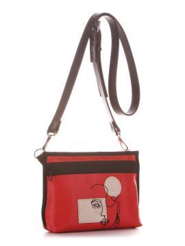 Фото товара: сумка через плече 210182 червоний. Вид 1.