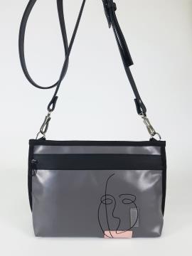 Фото товара: сумка через плече 210183 сірий. Вид 1.