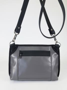 Фото товара: сумка через плече 210183 сірий. Вид 2.
