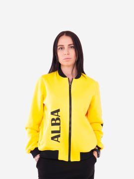Фото товара: жіночий бомбер 201-001-00 жовтий. Вид 1.
