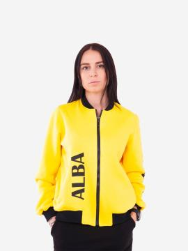 Фото товара: женский бомбер 201-001-00 желтый. Вид 1.