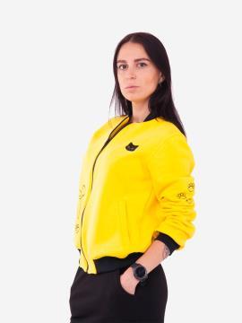 Фото товара: жіночий бомбер 201-002-00 жовтий. Вид 1.