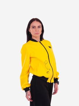 Фото товара: жіночий бомбер 201-002-00 жовтий. Вид 2.