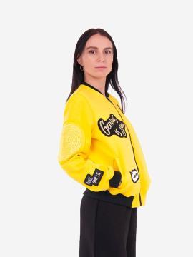 Фото товара: жіночий бомбер 201-003-00 жовтий. Вид 2.