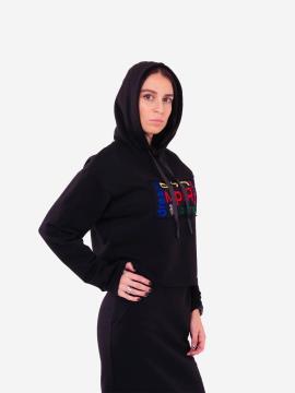 Фото товара: женское худи 201-011-00 черный. Вид 2.
