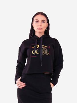 Фото товара: женское худи 201-012-00 черный. Вид 1.