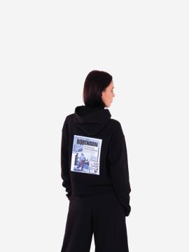 Фото товара: женское худи 201-014-00 черный. Вид 2.