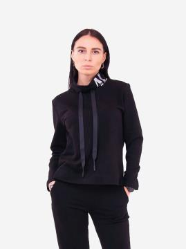 Фото товара: женский свитшот 201-016-00 черный. Вид 2.