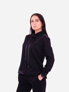 Фото товара: женский свитшот 201-018-00 черный. Вид 1.
