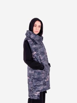 Фото товара: женский жилет 201-033-00 милитари. Вид 2.