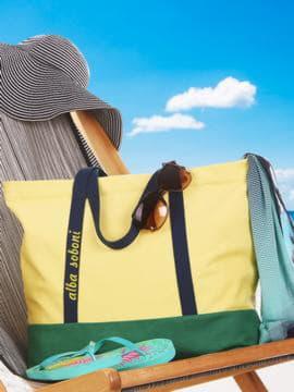 Летняя сумка с вышивкой, модель 190441 желтый-зеленый. Изображение товара, вид сбоку.