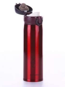 Стильный термос вакуумный 500 мл красный. Изображение товара, вид 2