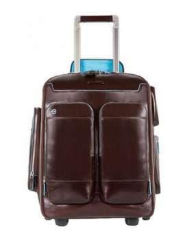 Молодежный чемодан-рюкзак piquadro bl square/cognac ca3797b2_mo. Изображение товара, вид 1