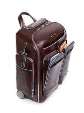 Молодежный чемодан-рюкзак piquadro bl square/cognac ca3797b2_mo. Изображение товара, вид 2
