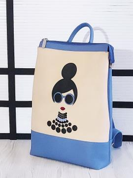Фото товара: рюкзак 201302 блакитний-беж. Вид 2.
