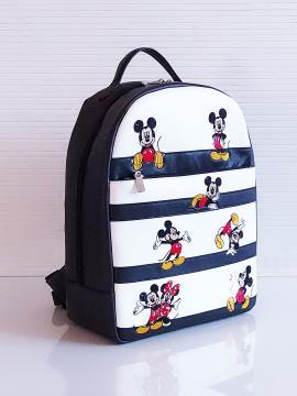 Фото товара: рюкзак 201353 чорно-білий. Вид 1.