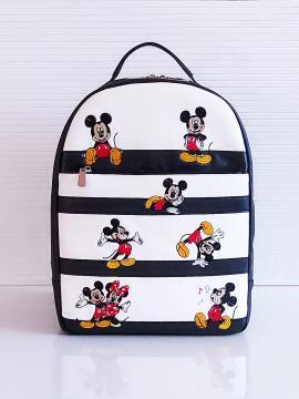 Фото товара: рюкзак 201353 чорно-білий. Вид 2.