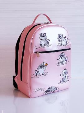 Фото товара: рюкзак 201354 рожевий-перламутр. Вид 1.