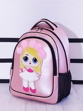 Фото товара: рюкзак 201701 рожевий-перламутр. Вид 2.