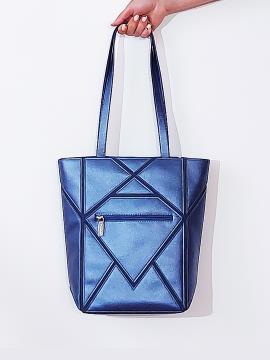 Фото товара: сумка 201371 синій-перламутр. Вид 2.