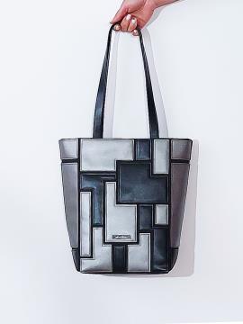 Фото товара: сумка 201372 чорний-нікель. Вид 1.