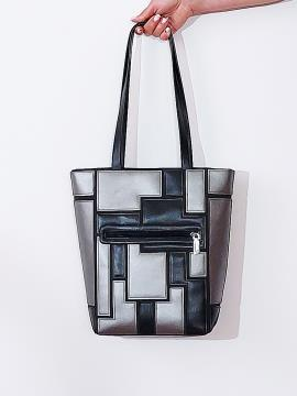 Фото товара: сумка 201372 чорний-нікель. Вид 2.