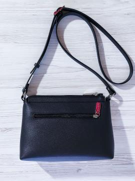 Фото товара: сумка через плече 201311 чорно-білий. Вид 2.