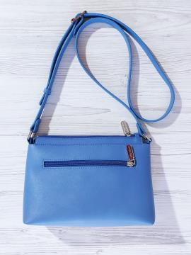 Фото товара: сумка через плече 201312 блакитний-беж. Вид 2.