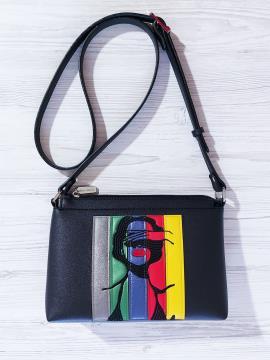 Фото товара: сумка через плече 201313 чорний. Вид 1.