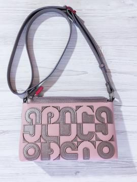 Фото товара: сумка через плече 201315 бронза-рожевый. Вид 1.