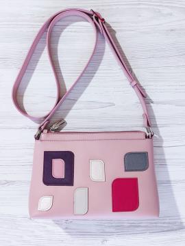 Фото товара: сумка через плече 201316 рожевий. Вид 1.