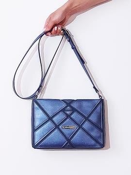 Фото товара: сумка через плече 201381 синій-перламутр. Вид 1.