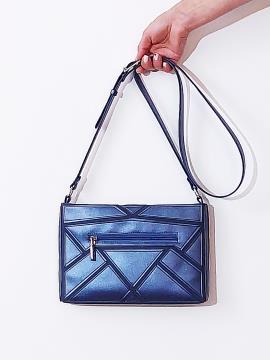 Фото товара: сумка через плече 201381 синій-перламутр. Вид 2.