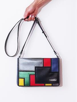Фото товара: сумка через плече 201383 чорний. Вид 1.