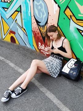 Молодежный модный рюкзак Monokuma alba soboni 211522 цвет черный. Фото - 2